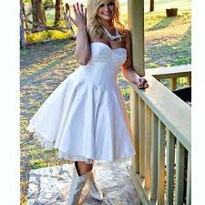 Amazing Country Chic Wedding Dresses For Short Dress White Satin Ball Gown Rustic