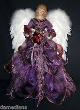 Angel Purple Dress Tree Topper