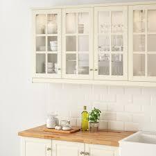 bodbyn vitrinentür elfenbeinweiß 40x80 cm