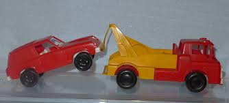 100 Gay Truck Pair Vintage Plastic Toys Cars 2 Old Vehicles Toys Tow