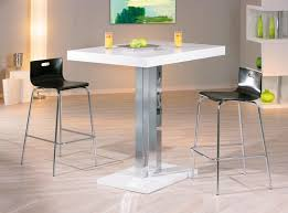 table de bar moderne en blanc laqué palazzi belfurn