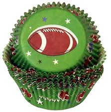 American Football Cupcake Bun Muffin Cases Pack Of 75 Amazoncouk Kitchen Home