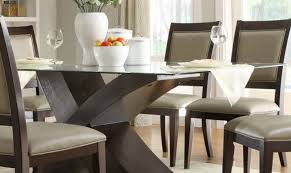 Shape Argos Top Tempered Chairs Decor Set Dining Below Design Pedestal Extendable Images Table Designs Glass