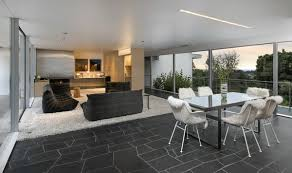 Bertram Retained Neutras Open Floor Plan And Minimalist Aesthetic Soft White Tones Contrast With The