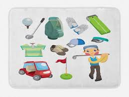 badematte plüsch badezimmer dekor matte mit rutschfester rückseite abakuhaus golf ballsport ausrüstung kaufen otto