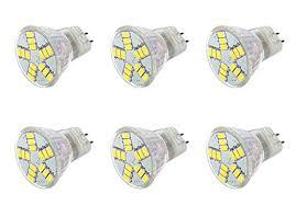 ac dc 12v 6w 6 pack warm white 15x 5630 cluster led light bulb
