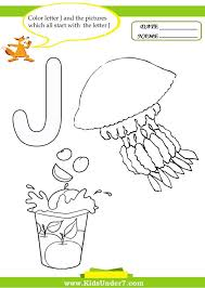 Kids Under Letter J Worksheets And Coloring Pages Color By Thanksgiving Medium Size