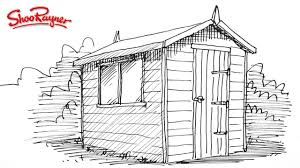 how to draw a garden shed youtube