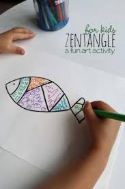 Easy Zentangle Drawing Inspired Art Activity For Kids