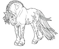 Coloring Page Horse And Rider Free Printable Horses Pages Kids Cute Color Jumping Carriage