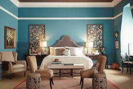modele chambre 1001 idées pour une chambre bleu canard pétrole et paon sublime