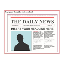 Newspaper Front Page Template Blank