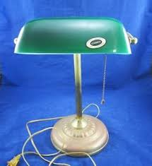 Underwriters Laboratories Lamps Antique by Underwriters Laboratories Green Cased Glass Desk Library Lamp