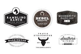 Western Themed Rustic Logos Links To Font Downloads Included