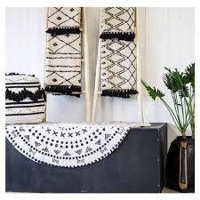 kokon teppich handbedruckt marokko 1 boho badteppich ethno 90x60