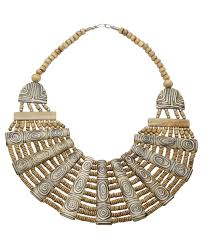 Nepal Tribal Tattoo Statement Necklace