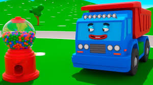 100 Dump Truck Song The Gumball Machine Helps The And Other 3D Cars Learn