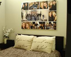 Photo Collage Idea For A Bedroom