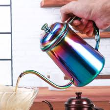 1PC 650ml Vintage Coffee Pot Swan Neck Mouth Stainless Steel Kettle Drip Maker