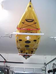 Kayak Hoist Ceiling Rack by Store Them Upside Down Nice Pvc Kayak Pinterest Nice