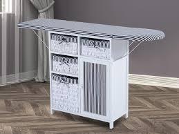 planche a repasser en bois meuble de repassage table à repasser pliable mutli rangements bois