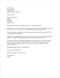 Free Interview Thank You Letter Template