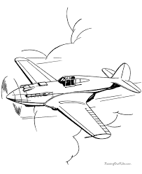 Free Coloring Pages Of Army Planes