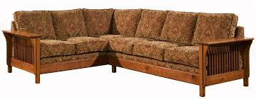 Arts Crafts Mission Style Upholstered Back Sofa Sectional