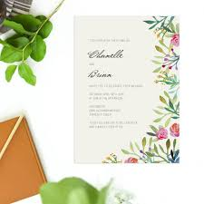 Watercolour Floral Wedding Invitations Forest Woodland Stationery Australia Rustic Green Invite Perth Sydney Melbourne Brisbane