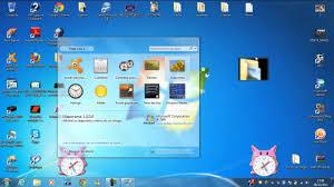 windows 7 bureau mettre un gadget sur écran de ordi bureau windows 7