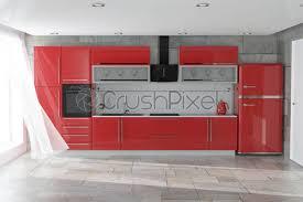 Modern White Kitchen Interior 3d Rendering Stockfoto Und Modern Kitchen Furniture With Kitchenware Interior