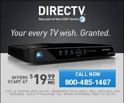 Call 800 485 1467 to reach DIRECTV at their toll free telephone number