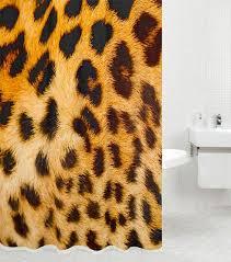 sanilo duschvorhang leopardenfell 180 x 200 cm
