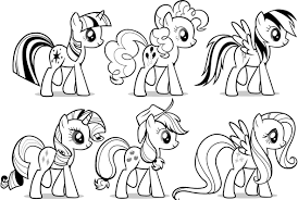 Free Coloring Pages Of My Little Pony Line Up