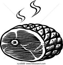 Stock Illustration of An illustration of ham ready tp be severd