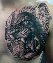 Discover Strength And Authority With The Top 70 Best Lion Chest Tattoo Designs For Men Explore Cool Big Cat Ink Ideas On Upper Body