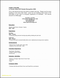 Examples Resumes With No Experience 53 Awesome Resume High School Student Template
