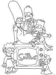 The Simpsons Coloring Pages 47