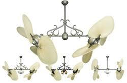 Dual Motor Ceiling Fan With Light by Double Ceiling Fans Tropical Fan Company