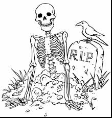 Remarkable Halloween Skeleton Coloring Pages Printables With For And Christian