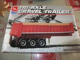 Tri-Axle Gravel Trailer | Model Truck Kits | HobbyDB