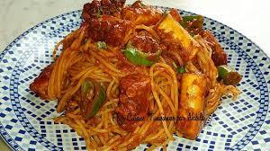 pate a la tunisienne spaghetti tunisienne au poulpe tunisme
