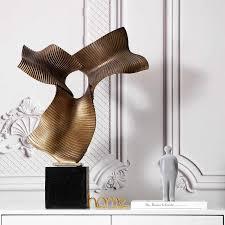 70cm große größe luxus hohl abstrakte skulptur dekoration