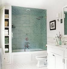 frosted green glass subway tile bathtub shower ceramic