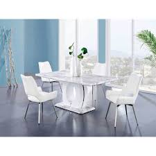MFB Dining Table Set,White Marble Table,White Chairs, Free Shipping ... Hanover Traditions 5piece Alinum Outdoor Ding Set With Swivel Chairs With Casters A R T Valencia Castered Chair In Indoor Chromcraft Kitchen Revington Table Amazoncom Morocco Square And Four On Wheels Tvdesignorg Astounding Value City Fniture Room Cool Haddie 8 Cancupinfo Mesmerizing Cheap Dinette Sets Immaculate Lowes Sling Covers Six Patio Cushion Tilt Coaster Mitchelloak 5 Piece 3in1 Game Alkar Billiards