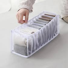 home schubladen aufbewahrungsbox kleiderschrank schrank organizer für unterwäsche bh socken höschen polyester 11 fach weiß