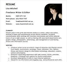 Freelance Writer Resume Template Design