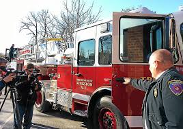 Kingston Fire Department's New Ladder Truck Arrives | News ... Special Delivery 1940s Fire Truck Brought To Ghs News Ogdensburg Hosts Firemans Parade Inspection Sparta Nj Local Chanukah Fire Truck Parade 2015 Corner Of Fallsgrove Blvd And Antique On Vimeo In Raleigh Firetruck Is The New Trend For A Party Bus Abc11com Thessaloniki Greece October 28 2014 Stock Photo Edit Now Medic Clearwater Florida Deadline August 3 2016 Cvention Brings Mascots Motorcyclists More Annual Firemens Draws Large Crowd Franklin Hamburg Bedford Township Standing By Escort With Manchester Photos Wvphotos