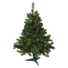 Meijer Home Wall Decor by December Home Augusta Pine Multicolor Pre Lit Tree 4 Ft Meijer Com