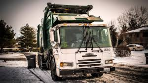 Garbage Truck In The Snow - YouTube